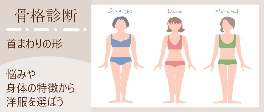 骨格診断 首まわりの形 悩みや身体の特徴から洋服を選ぼう